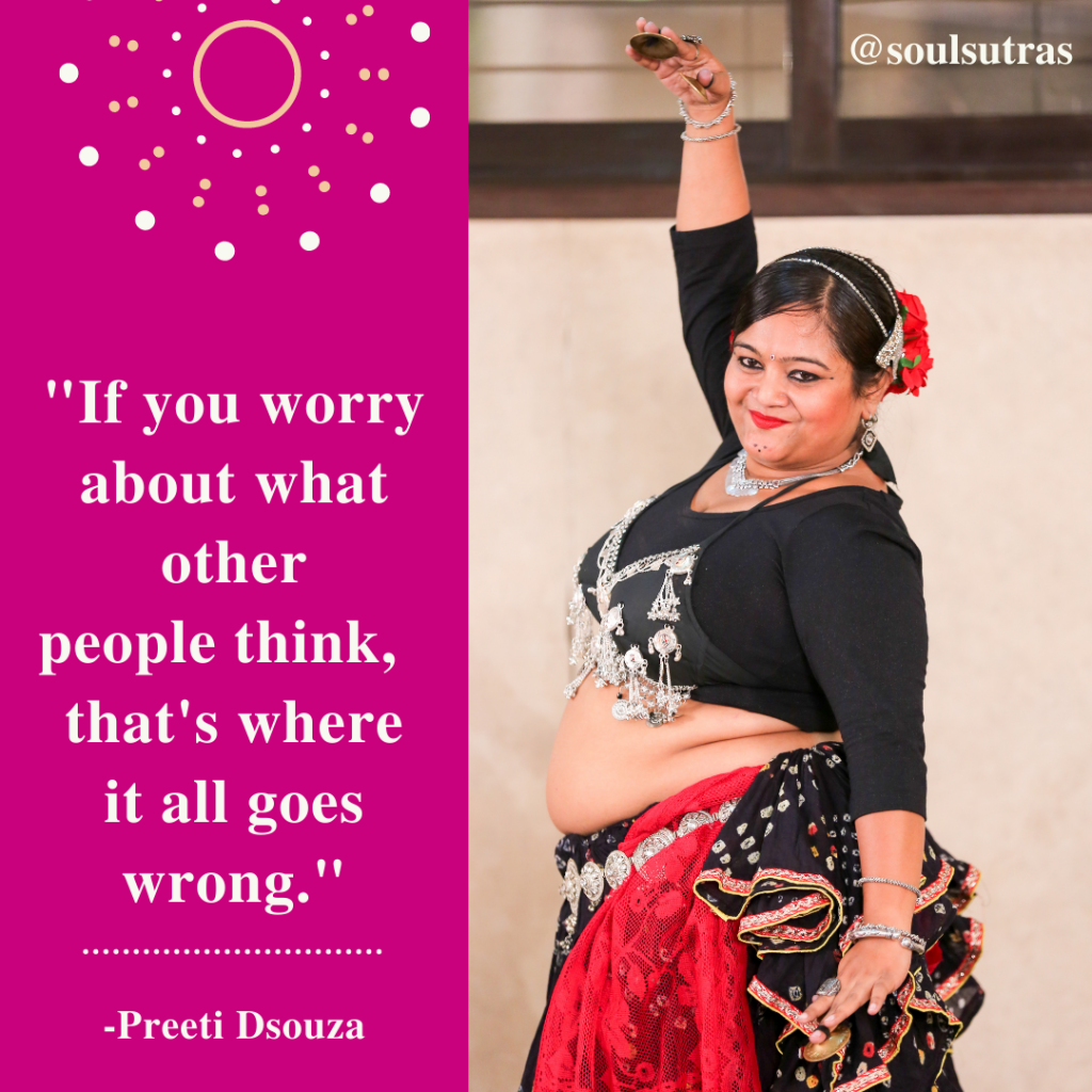 South Asian sister and feminist Preeti D'Souza is a belly dancer
