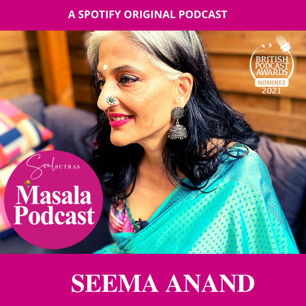 Meet Seema Anand the Kamasutra expert talking on the award-winning Masala Podcast talking about female pleasure and sex