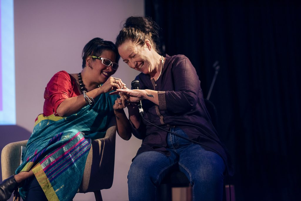 The first ever LGBTQ South Asian marriage proposal live on Masala Podcast, when guest Raga D'Silva proposed to partner Nicola Fenton.