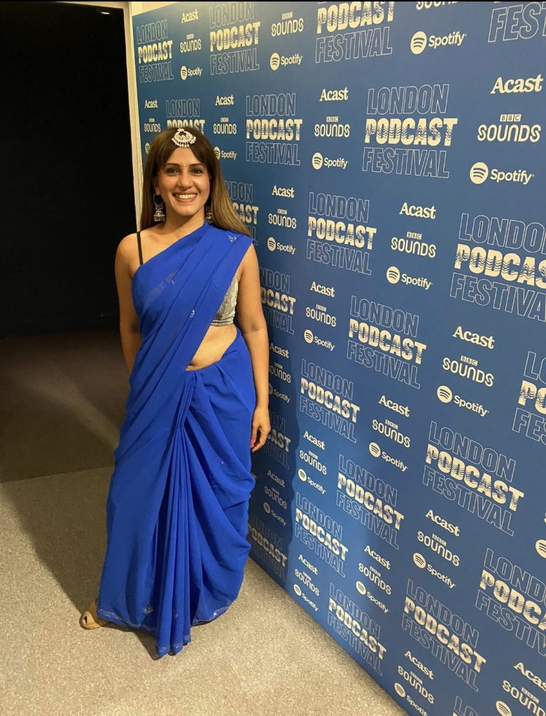 Sangeeta Pillai presents Masala Podcast Live  at Kings Place London on Sat 11th Sept as part of the London Podcast Festival